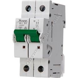 Автоматический выключатель (MCB), 2 полюсный, с индикатором срабатывания, ток 10А