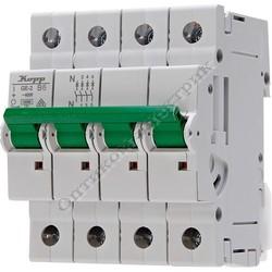 Автоматический выключатель (MCB), 3 полюсный  + нейтраль, с индикатором срабатывания, ток 13А