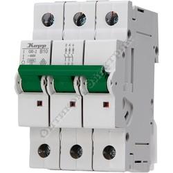 Автоматический выключатель (MCB), 3 полюсный, с индикатором срабатывания, ток 10А